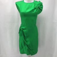 Diane Von Furstenberg Green Silk Dress 14