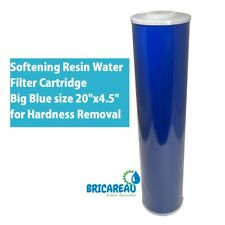 "Cation Softening Resin Water Filter Cartridge Big Blue 20""x4.5"" Hardness Removal"