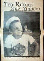 The Rural New Yorker May 18 1957 Farm Family Magazine Sailor Boy Turkey Chick