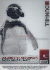 1 Wackelkarte aus den bebilderten Dunhill Pinguin, Dunhill Adler, Rexona Man, ..