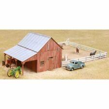 American Model Builders 726 - Implement Barn w/ Corral - HO Scale