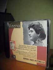 ARMIDA PARSI PETTINELLA UNKNOWN RECORDINGS 1906 1909 CD MINERVA REMASTERING