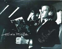 Hand Signed 8x10 photo HONOR BLACKMAN & MULLER Goldfinger JAMES BOND + my COA