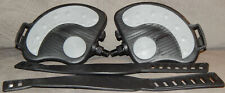 """Indoor Stationary Spin Bike Replacement Pedal Pair XL w Straps 9/16"""" 1/2"""" JD-22A"""