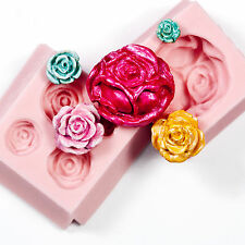 Rose Mold Set Two Resin Polymer Clay Soap Wax Candle Chocolate Candy  Moulds(213