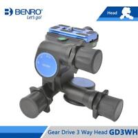 BENRO GD3WH Three-Dimensional Gear Head Black Magnesium Alloy Camera Tripod Head