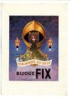 Ancienne publicité des années 40 des bijoux FIX ~ 27x37 cm ~ FRFN101