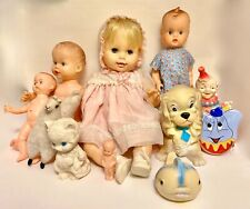 Collection of Eleven Vintage Toys from 1960's - Dolls, Llama, Squeakies