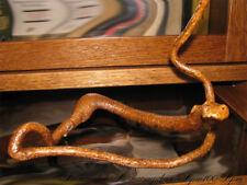 Folk Art Wood Carving Figure. Snake. Wooden figurine, decoration hand made