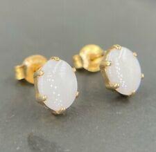 Zierliche Opal Ohrringe Ohrstecker aus 585 14K Gold