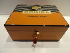 cohiba humidor comes with locking lid plus a crystal ashtray & cigar cutter