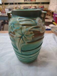 Vintage Roseville Pottery Luffa Vase No Damage