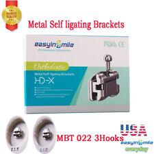 20pcs Mbt Self Ligating Passive Brackets Dental Orthodontic Hooks 3 With Tool
