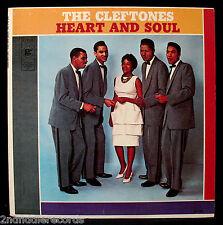 THE CLEFTONES-HEART AND SOUL-Mega Rare Near Mint Doo Wop Album-GEE #G-705-Mono