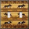 Metal Light Switch Plate Cover - Rustic Moose Decor Cabin Home Decor Lodge Decor