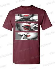 NEW Blunt Roll Red Lips T-SHIRT roll up weed kush Hot Girl Rolling Blunt Tee