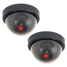 2 X Domo falso maniquí seguridad CCTV cámara Cámaras Con Led Intermitente Para El Trabajo A Domicilio