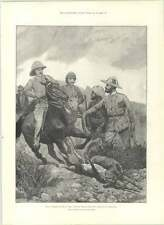 1890 Chasse Noir Buck avec Cheetah À HYDERABAD CATON WOODVILLE
