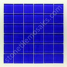 2x2 Blue Square Glass Mosaic Tile  - 1 sqft