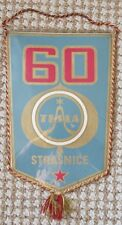 Antique Tesla Strasnice Television Component Plant 60th Anniversary Pennant Flag