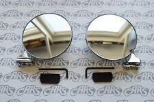 Peep Mirrors. Pair | 4'' | CONVEX w/ Hardware. Rat Rod. Hot Rod | PM400CP