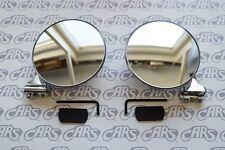 Peep Mirrors Pair | 4'' | CONVEX w/ Hardware | Rat Rod & Hot Rod | PM400CP