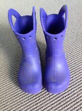 Pre-Owned Crocs Girls Purple Handle It Rain Boot Size 10