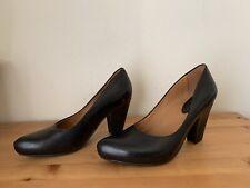Earthies Talera Black Leather Dress Pump Heel Shoe Size 9B