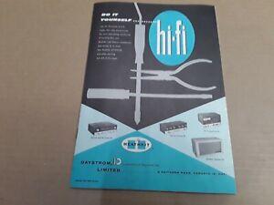 Heathkit Vintage Catalogue / Catalog 1958. Daystrom Limited. Electronic Kits.