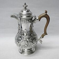 George II Silver Coffee Pot by WILLIAM CRIPPS, LONDON 1750. Stock ID 8801