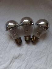 3 alte Osram DEKOLUX Silber 230V 40 Watt kuppenverspiegelte Lampe Glühbirne