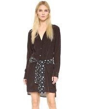 Nwt Equipemt X Kate Moss Rosalind Silk Dress True Black Cherry Red Size S $328
