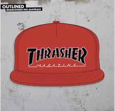 Thrasher Magazine Men's Adjustable Snap Back Hat Red