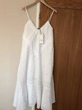 Zara Midi Dress Size M L UK 12 14 Embroidered Cotton Brand New With Tags Blogger