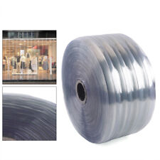 "Pvc Strip Curtain Ribbon Roll Cold Freezer Cooler Plastic 7.08"" Widex164"" Length"