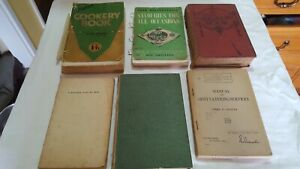 6 Tatty Old Cookery Books But Very Interesting And The Recipes Must Have Been...