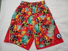 Nwt Flow Society Youth X-Small Lax Red 600 Rasta Monkey Lacrosse Shorts New