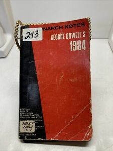 Monarch Notes Vintage Rare George Orwell's Paperback 1984 Critical Guide
