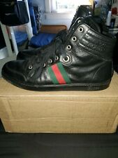 Gucci High Top Black GG Sneakers Men's Shoes Size 10 G, 11us