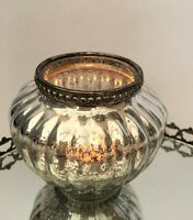 Antique Style Glass & Metal Vintage Tea Light Candle Holder Wedding Decoration