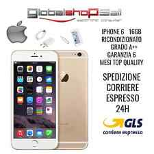 APPLE IPHONE 6 16GB GRADO A++ ORO GOLD ORIGINALE RIGENERATO RICONDIZIONATO