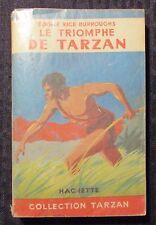 1949 LE TRIOMPHE DE TARZAN by Edgar Rice Burroughs VG 4.0 French Paperback