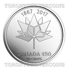 "2017 Canada / Canadian 50-cent "" Half Dollar"" Canada 150 Official Logo Coin"