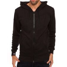 NWT Men's G-Star Raw Salvos Full Zip Hooded Sweater Hoodie Black Extra Large XL