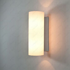 Up/Down 14W LED Wall Sconce Light Glass Cylinder Lamp Fixture Bulb Bedroom Hotel