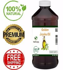 Golden Jojoba Oil - 100% Pure COLD PRESSED Organic Face Hair Skin Body Massage