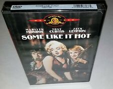 Some Like It Hot (Rare Factory Sealed 2001 Mgm Dvd - See pics) Original Cover