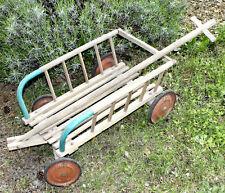 Alter Antiker Bollerwagen Leiterwagen Handwagen Vintage Garten Deko Shabby Chic