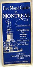 THE ROYAL BLUE LINE BUS TOURS BROCHURE MONTREAL QUEBEC CANADA 1928 VINTAGE