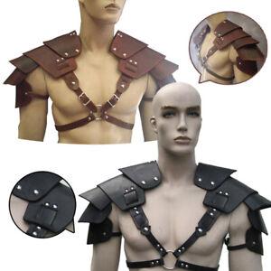 Medieval Costume Viking Shoulder Armor Gladiator Samurai Battle Knight Pauldrons